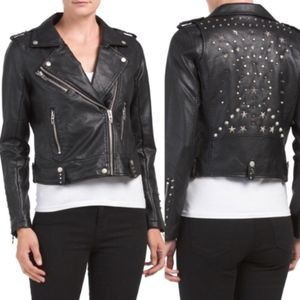 Blank NYC Jackets & Coats - Black NYC Studded Faux Leather Jacket